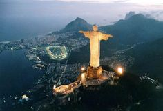 Christ the Redeemer , is a statue of Jesus Christ in Rio de Janeiro, Brazil. The statue's features are 30 m. Oh The Places You'll Go, Great Places, Places To Travel, Beautiful Places, Places To Visit, Accor Hotel, Christ The Redeemer Statue, Jesus Christ, Pictures Of Christ