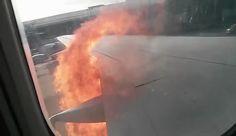 Schock im Flugzeug: Turbine geht in Flammen auf - http://ift.tt/2cLdxJL