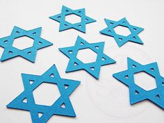 Check out this item in my Etsy shop https://www.etsy.com/uk/listing/468285327/star-of-david-confetti-magen-david