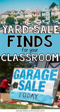 Yard Sale finds for your classroom! Flexible seating, lamps, and so much more on the cheap!