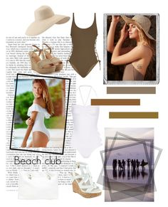 """""""Beach Club !"""" by sandrinecakes ❤ liked on Polyvore featuring Polaroid, Victoria's Secret, Free People, Thapelo Paris, Norma Kamali, Eric Javits, GUESS, UGG Australia and Sole Society"""