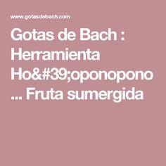 Gotas de Bach : Herramienta Ho'oponopono... Fruta sumergida