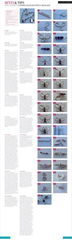 Jewellery making tutorial on how to create a Gizmo Coiled Butterly Necklace.
