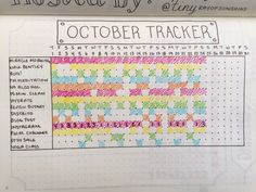 My monthly habit tracker is one of the most visited pages in my Bullet Journal. I developed this tracker as a way to eliminate writing repetitive tasks on my daily pages. I love to look back on this tracker at the end of every month. It's a great tool for self assessment and reflection.