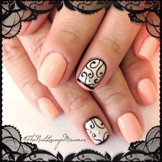 Lace gel nail art, love this design so much!!