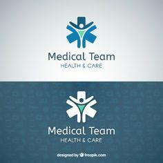 Medical team logo template
