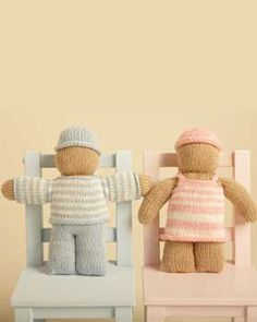 Knit Baby Doll  Hand Knit Doll for Boy or Girl  by KnuttinButYarn, $24.99