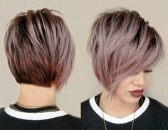 Edgy Bob Curly Hairstyles For Round Faces