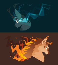 Blue and Orange by Finchwing on DeviantArt