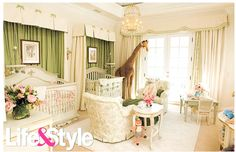Luxurious Nursery Bedroom Design Ideas  . This color palette is so soothing.