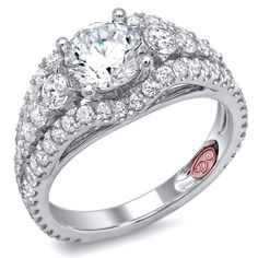 Demarco Heirloom Diamond Engagement Ring DW4603 - Available in White or Yellow Gold 18KT and Platinum. 1.14 RD