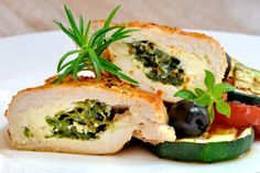 Nutrisystem provides a delicious and healthy recipe for a Spinach and Cheese Stuffed Chicken.