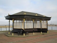 New Brighton New Brighton, Shelters, Seaside, Gazebo, Outdoor Structures, Deck Gazebo, Cabana, Hiding Places, Arbors