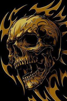 None of these images are mine =) Skull Stencil, Totenkopf Tattoo, Reaper Tattoo, Skull Pictures, Skull Artwork, Skull Wallpaper, Skulls And Roses, Airbrush Art, Skull Tattoos