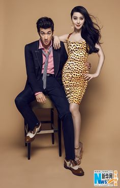 """Actress Fan Bingbing and actor Aarif Lee promote their new movie """"One Night Surprise"""""""
