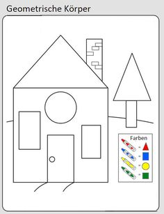 Geometrische Formen/Flächen- Mathematik- Dreieck, Rechteck, Quadrat, Kreis - Formen im Alltag erkennen - Suchbild Shapes Worksheet Kindergarten, Shapes Worksheets, Kindergarten Math Worksheets, Preschool Learning Activities, Preschool Activities, Kids Learning, Kindergarten Portfolio, Kids Education, Blog