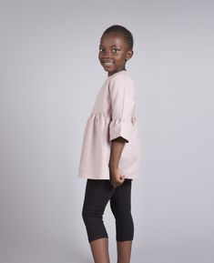 $30 Bell top for girls made with summer hemp linen in taupe pink Taupe Colour, Loose Fitting Tops, Metal Buttons, Body Measurements, Kids Clothing, Hemp, Organic Cotton, Kids Outfits, Kimono Top