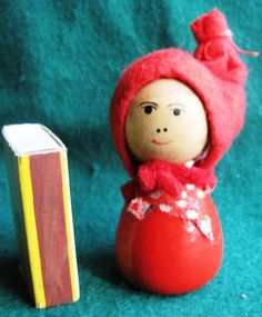 Vintage Wood Christmas Doll Elf Gnome Santa Tomte Sweden Figurine Figure