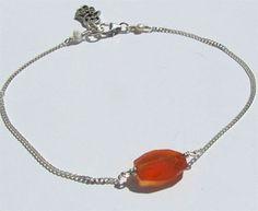 Magic Bean Bracelet - Carnelian with Hamsa Charm by Oncefound  www.oncefound.co.uk