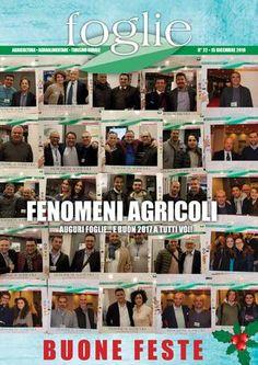 FOGLIE n.22/2016  AGRICOLTURA AGROALIMENTARE TURISMO RURALE