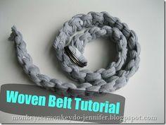 macrame belt tutorial made from t-shirts