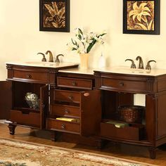 "Silkroad Exclusive Sophia 80"" Double Bathroom Vanity Set"