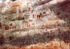 Carijiona native aboriginal rock art, Sierra del Chiribiquete, Colombia.