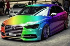 Stained-contrecarrant Audi A3 S3 berline tuning 1
