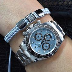 Beautiful @infinitybraceletuk to match your platinum Rolex Daytona | http://ift.tt/2cBdL3X shares Rolex Watches collection #Get #men #rolex #watches #fashion