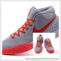31f570a9f9f0 705277-330 Cinza Laranja Vermelho Nike Kyrie 1 marca de basquete