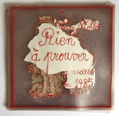 Rien à prouver, par Fanny Viollet Textiles, Modern Embroidery, Art Object, Altered Books, Bookbinding, Trees To Plant, Contemporary Artists, Textile Art, Fiber Art