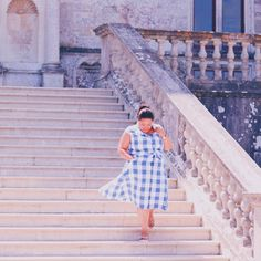 A day at a fairy tale castle. Dorset Diaries; Lulworth Castle. Joules Gingam Dress