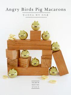 [동영상]무색소! 말차마카롱 만들기 ( Feat.앵그리버드 돼지) : 네이버 블로그