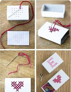 DIY: hand embroidered matchbox