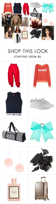 """Airport with Jesy"" by larryandtarillforeverr14 ❤ liked on Polyvore featuring Yves Saint Laurent, Dream Scene, Tommy Hilfiger, ASAP, Gucci and Hartmann"