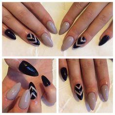black white nude nails - Google Search