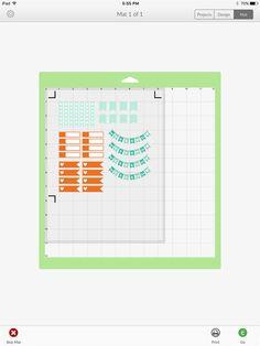 Cricut Design Space January EC Planner Stickers