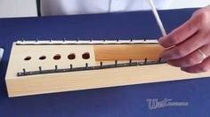Randy Hargis demonstrates the removal of worn-out or broken pins on a glockenspiel! f-replacement-...