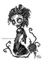 Gothic Lady Portrait by Lithium-Tears