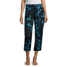 SKIN Floral Printed Cropped Pajama Pants ($143) ❤ liked on Polyvore featuring intimates, sleepwear, pajamas, pj pants, lingerie pajamas, lingerie sleepwear, floral lingerie and skin sleepwear
