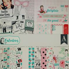 The Fabulous Fifties are captured in this wonderful new paper crafting kit by Authentique. Printed card stock, card stock stickers and punch outs give you a perfectly coordinated look.