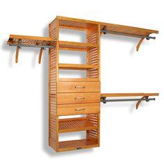 John Louis Home 10-Ft X 96-Ft Honey Maple Wood Closet Kit Jlh-320