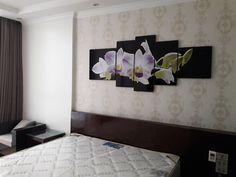 Tranh hoa phong lan trang trí nhà nghỉ khách sạn sang trọng