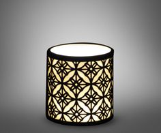 Cosy winter lights - Candle Holder Patchwork | Black