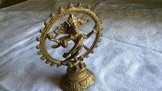 Deko-Objekte - Messingfigur Nataraja Tanzender Shiva - ein Designerstück von Grossmutters_Lieblinge bei DaWanda