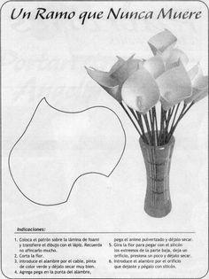 Discover thousands of images about Moldes De Payasos Manualidades Infantiles Para Ni Os Giant Paper Flowers, Clay Flowers, Faux Flowers, Silk Flowers, Fabric Flowers, Felt Flowers Patterns, Paper Art, Paper Crafts, Fleurs Diy