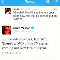 The 2nd time sarah millican tweeted to me