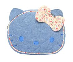 die-cut #pouch hello kitty #denim
