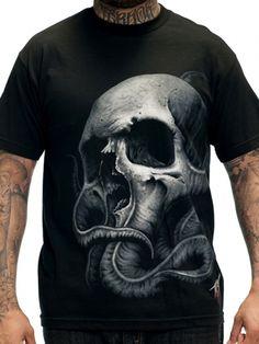 """Men's """"Tyrrell"""" Tee by Sullen Clothing (Black) #inkedshop #skull #octopus #graphictee"""
