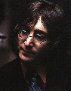 John Lennon - he kind of looks like a grown up Harry Potter in this picture.